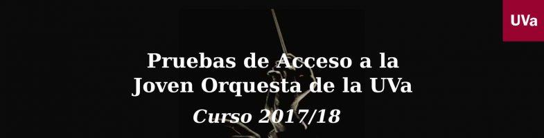 Convocadas pruebas de acceso a la JOUVa – Curso 2017/18